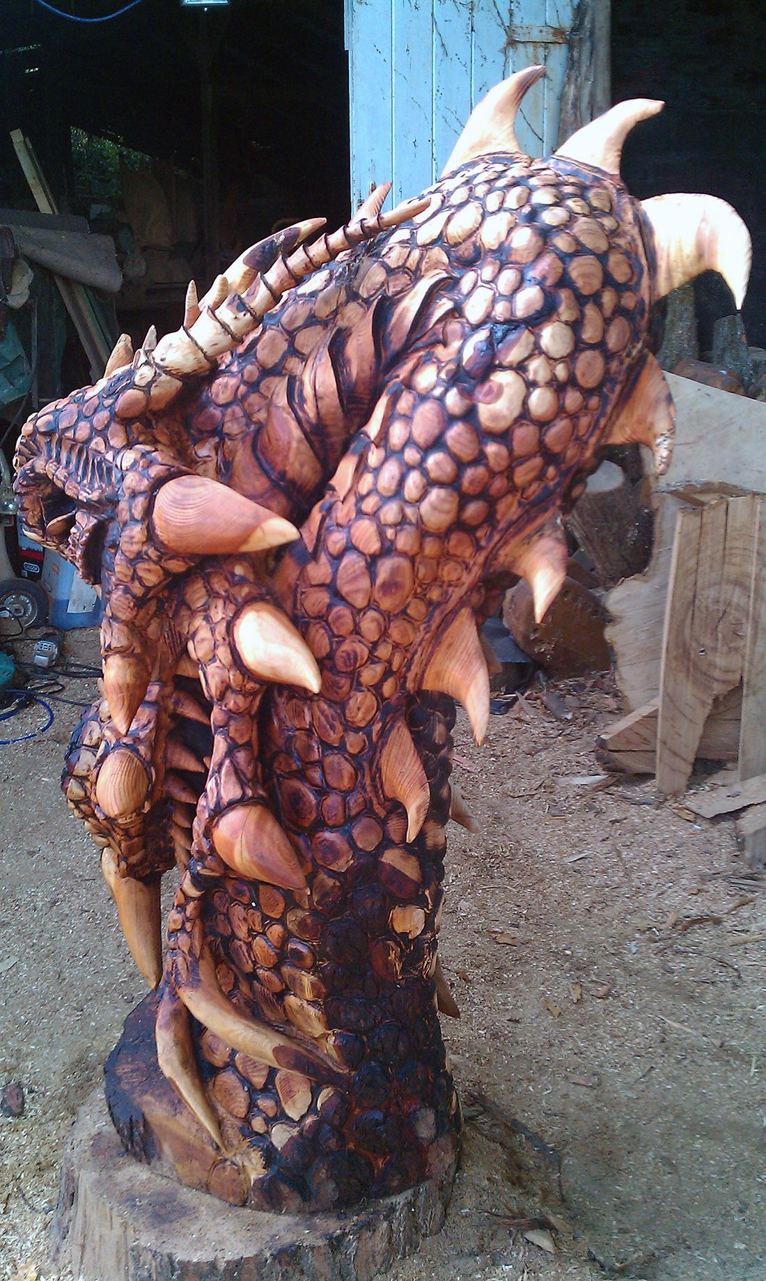 Detailed dragon head