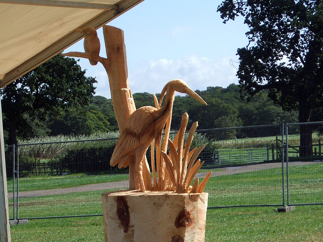 Heron Sculpture at the English Open