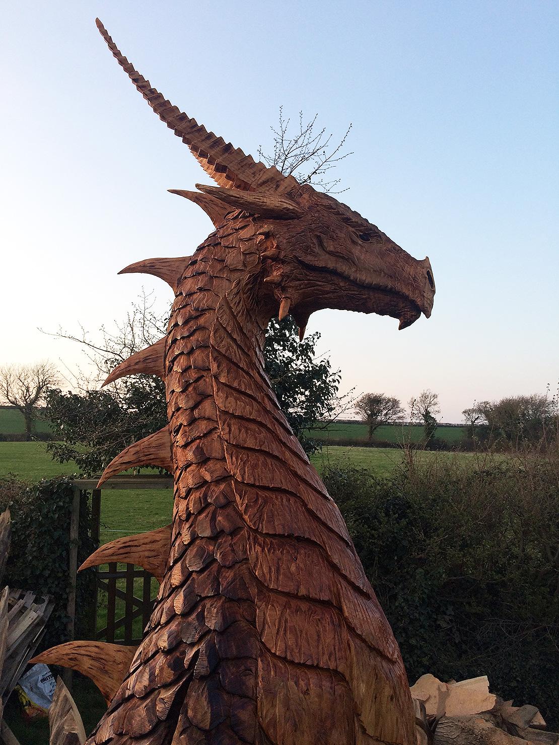 Large Dragon Head Sculpture