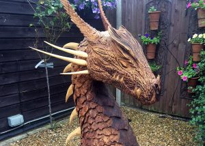 Small dragon head sculpture